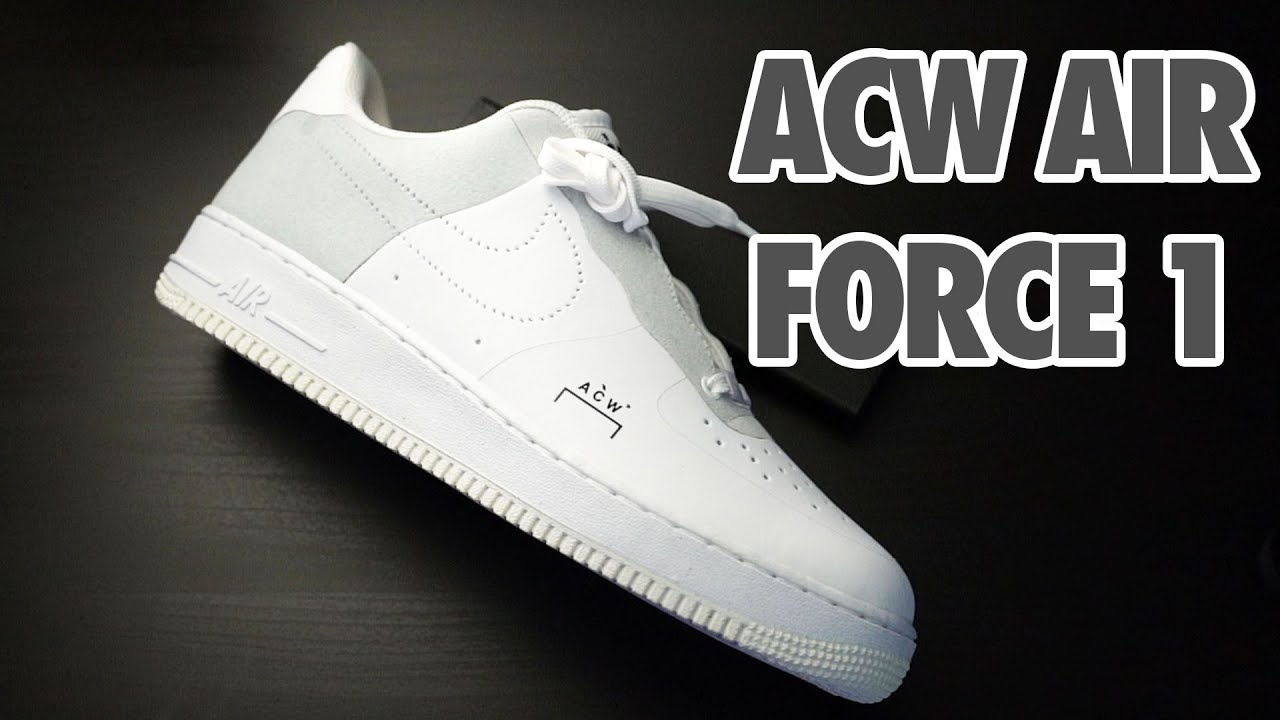 new arrival 1f1bc 057de ACW Nike Air Force 1 Low Unbox/Review (A-Cold-Wall*) - White/Grey