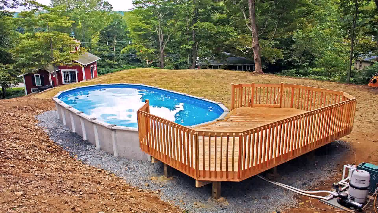 24 Ft Above Ground Pool Deck Plans Free