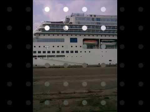 cruise ship arrived in cochin.wmv