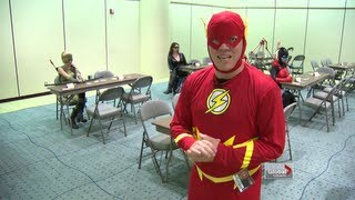 Superhero wedding and The Flash goes speed dating!