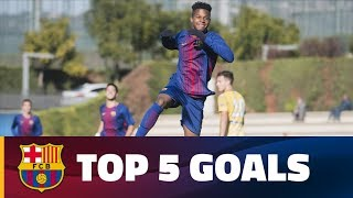 FCB Masia - Academy: Top 5 goals 2-3 December