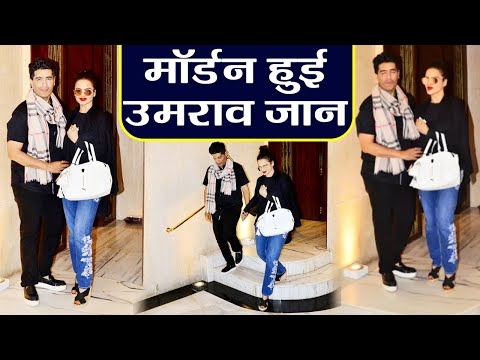 Rekha Looks Gorgeous in Jeans - Top;  Spotted outside Manish Malhotra's  house | FilmiBeat Mp3