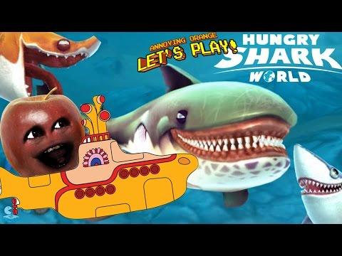 Midget Apple Plays - Hungry Shark World!