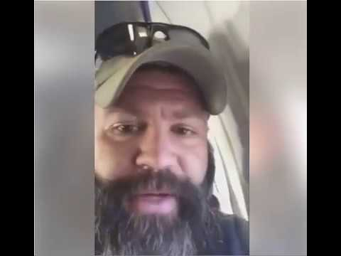 WOW!  NOW THE U.S MARINE VET. that made a viral video on Trump's travel ban is evacuated