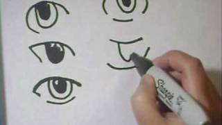 Drawing Eyes Tutorial Part 2- To replace googly eyes on crafts - EP