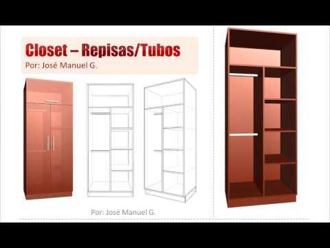 como crear un closet sacar despiece de medidas y