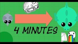 Getting DRAGON IN 4 MINUTES // Mope.io my best run on getting dragon !