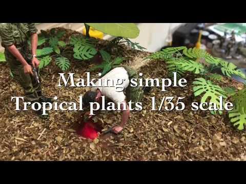 making paper tropical plants tutorial
