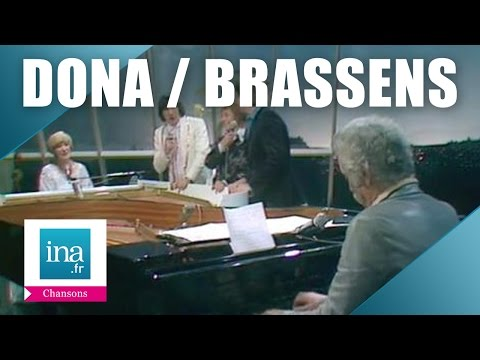 Alice Dona  et Georges Brassens au piano