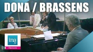 """Alice Dona  et Georges Brassens au piano """"Les copains d"""