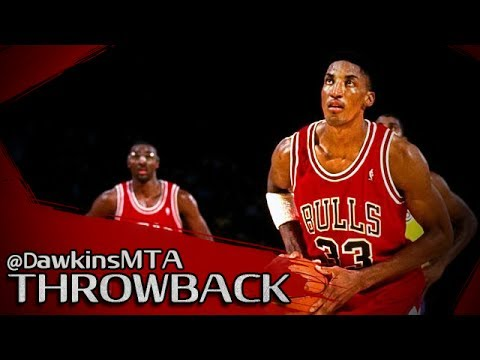 Scottie Pippen Defensive/Offensive Play in 1991 Finals GM5 at LAL - 32 Pts, 13 Rebs, 7 Ast, 5 Stls!