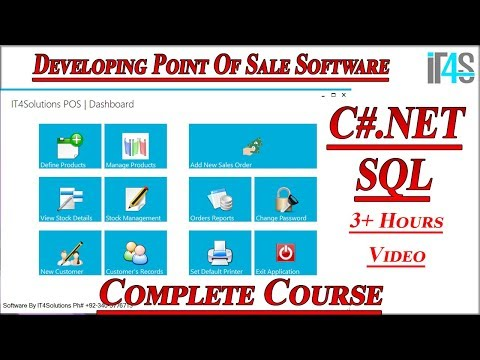 Developing Step By Step Point Of Sale And Inventory System In C#.Net And SQL Server Full Tutorial