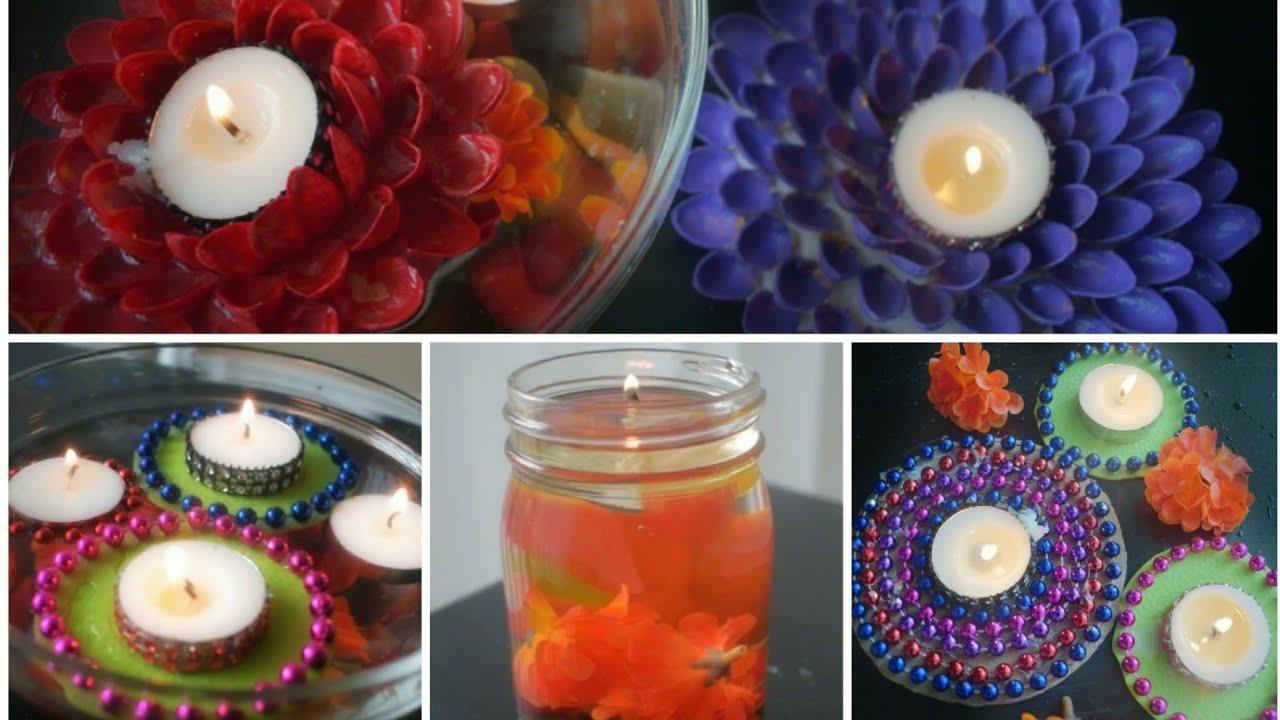 Diy 4 Best Diwali Decoration Ideas At Home Diwali 2017 Diya Decoration Ideas Youtube