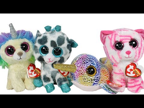 European and Claires Exclusive Beanie Boos Haul Unboxing Toy Review TY  Beanie Boo Plush 8c8908ac4bc8