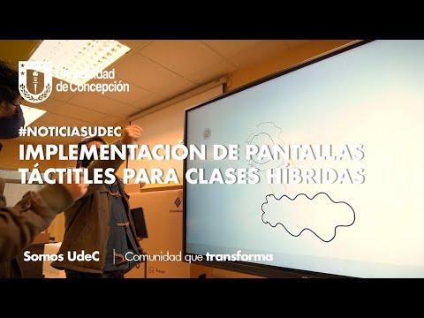 #NoticiasUdeC: Implementación de pantallas táctiles para clases híbridas