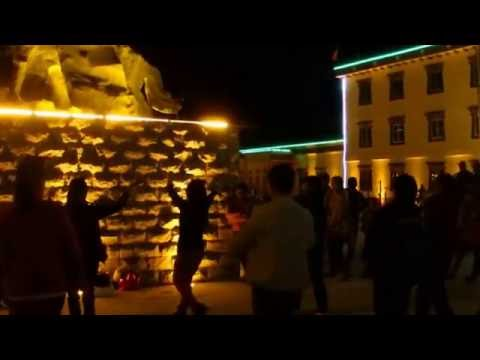 Disco Street Dance in Tibet Autonomous Region Purang, China