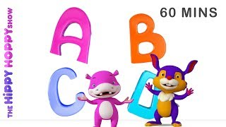 ABC Song Non-Stop | Popular Nursery Rhymes for Kids and Children  | Hippy Hoppy Show I 60 Mins