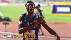 Noah Lyles' dramatic comeback makes him 200m world champion in Doha   NBC Sports