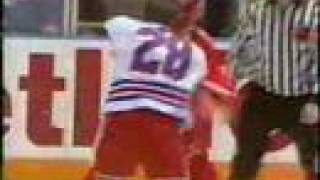 Bob Probert reclaims the belt from Tie Domi - R.I.P.