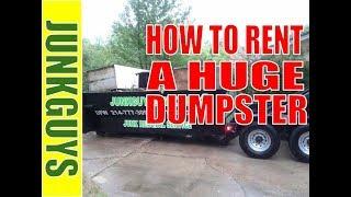 12 yard dumpster rental , www.Junkguysdfw.com $250.00