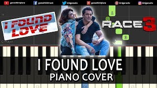 I Found Love Song Race 3   Piano Cover Chords Instrumental By Ganesh Kini