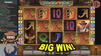 BIG WIN on Book of Ra Slot - £8 Bet!