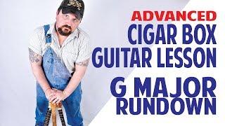 G Major Rundown Exercise for 3-string Cigar Box Guitar