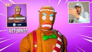 MERRY MARAUDER RETURNS to the ITEM SHOP! (Unlock the RARE GINGERBREAD MAN SKIN in Fortnite)