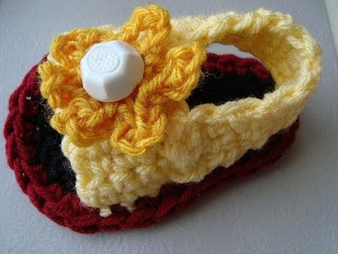 Crochet Baby Sandals Style 2 Youtube