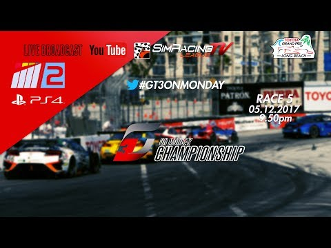 GT3 On Monday Race 5 Street Circuit of Long Beach LIVE