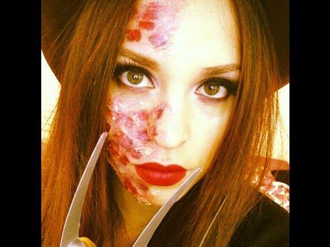 Miss Freddy Krueger Makeup Tutorial (Drugstore) - YouTube