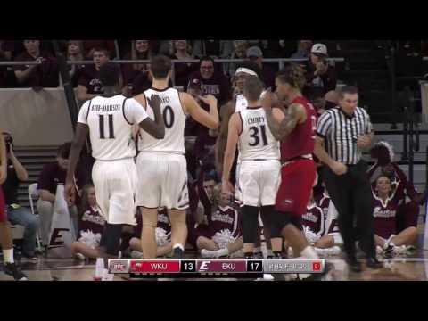 EKU v WKU Men's Basketball Highlights