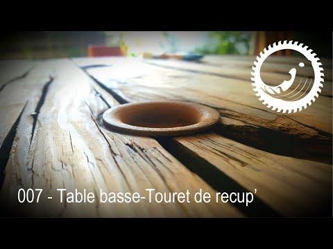 Table Basse Avec Un Touret De Recup Spool Coffee Table