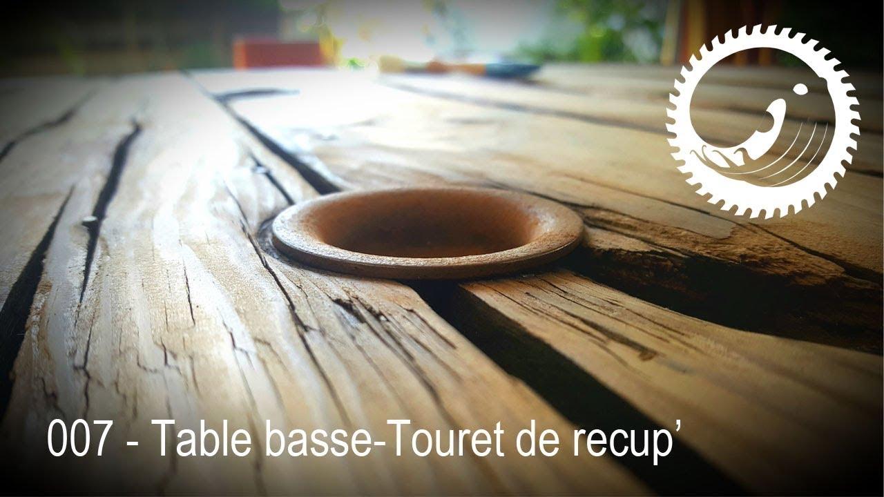 Table Basse avec un touret de récup\' - Spool coffee table