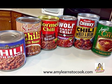 Eric's Canned Chili Challenge