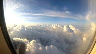 Красивое небо - вид из окна самолета