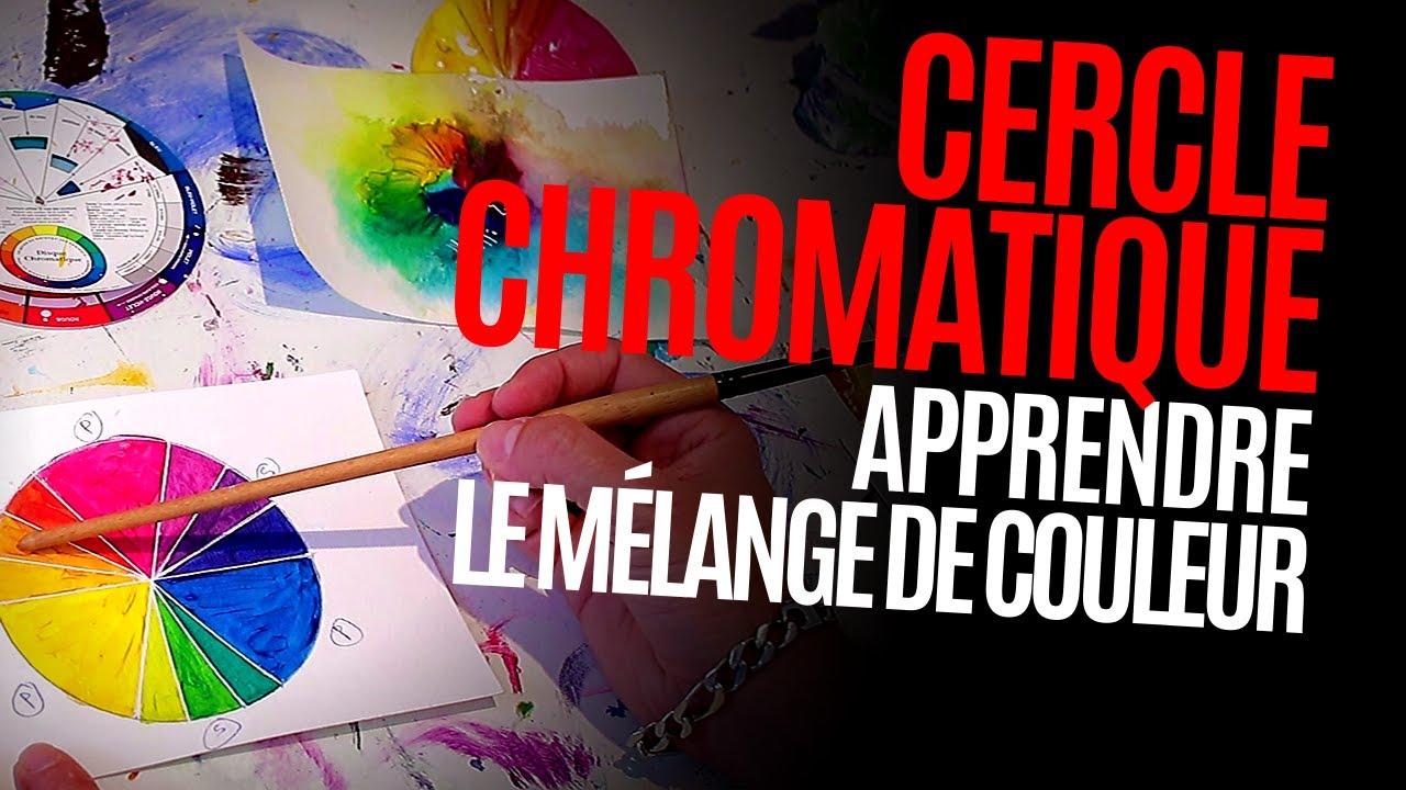 Cercle chromatique : Mélange de couleurs (peinture ...