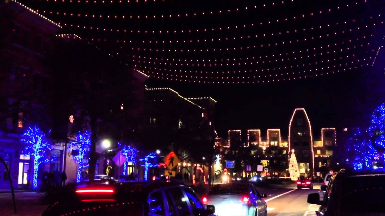 Frisco Square Christmas Lights 2013 - YouTube