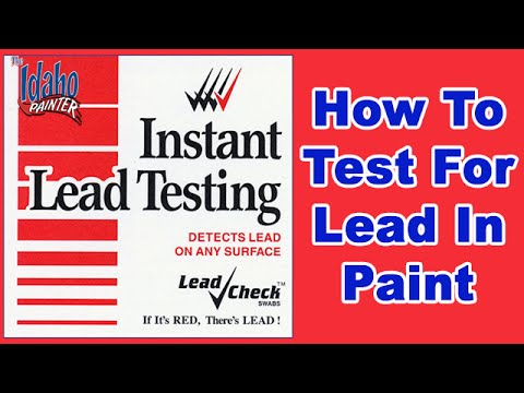 testing a house for lead in paint using a lead test kit youtube. Black Bedroom Furniture Sets. Home Design Ideas