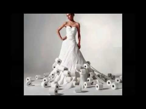 The most unusual wedding dresses - YouTube
