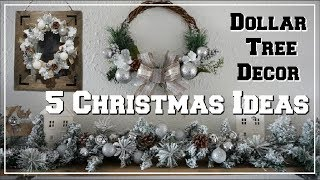 5 DOLLAR TREE DIY CHRISTMAS DECOR IDEAS | WINTER WONDERLAND DECOR | Momma From Scratch