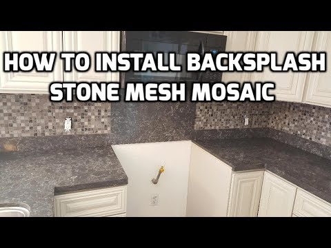 how to install kitchen backsplash quick and easy youtube