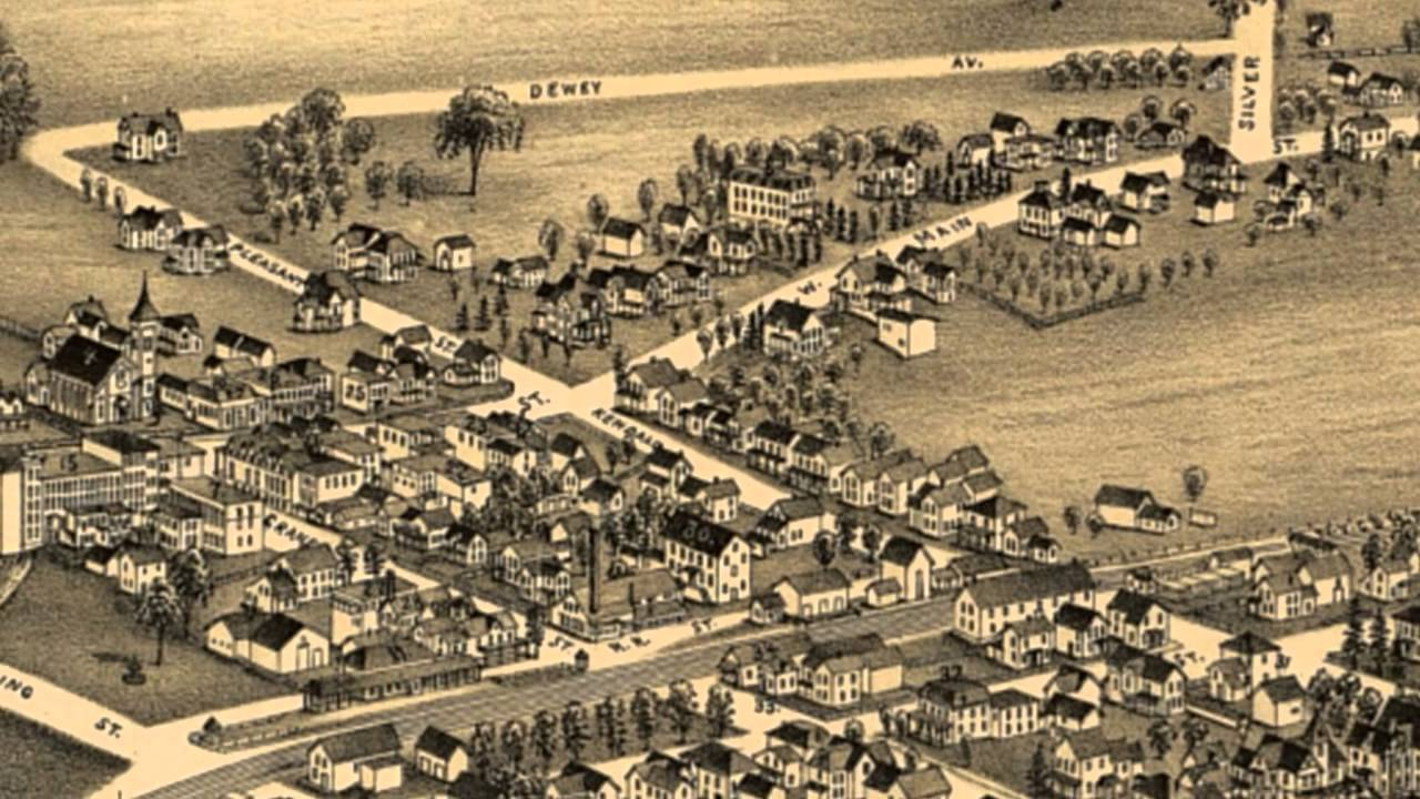 Clifton Springs New York 1892 Panoramic Bird's Eye View ...