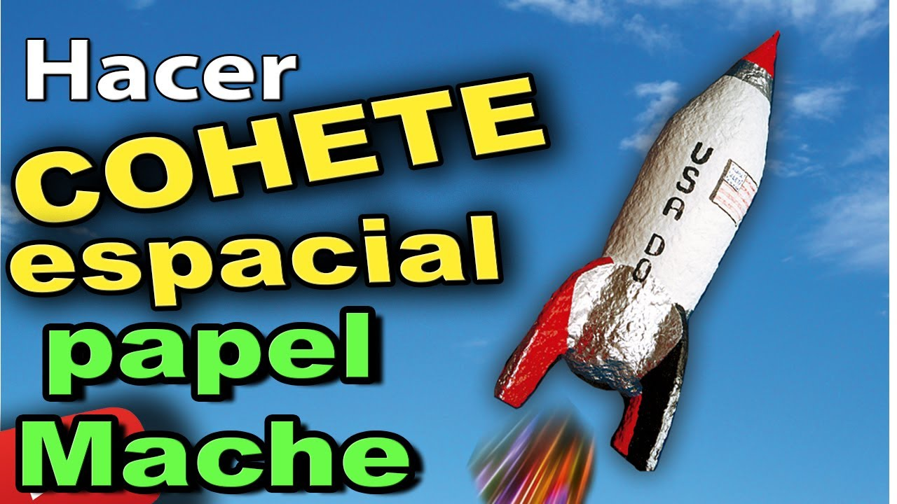How To Make A Toy Rocket With Paper Mache Homemade Diy