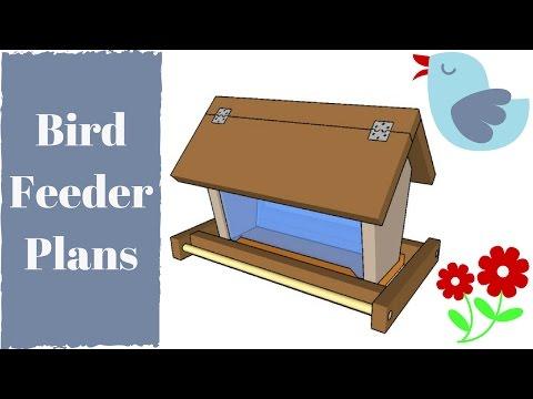 Diy bird feeder plans youtube for Homemade bird feeder plans
