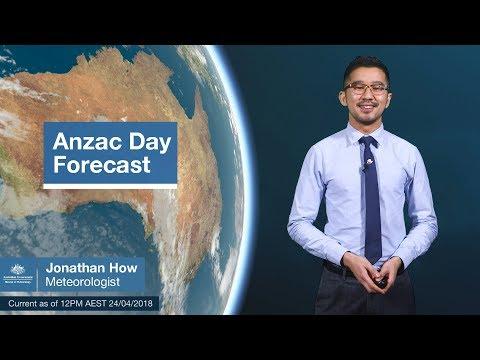 Anzac Day Forecast, April 2018