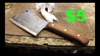 Restoring a $5 very rusty meat cleaver.