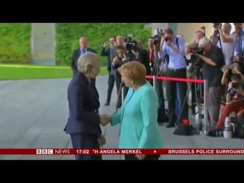 May meets Merkel  The first time Germany & the UK female leaders have ever met