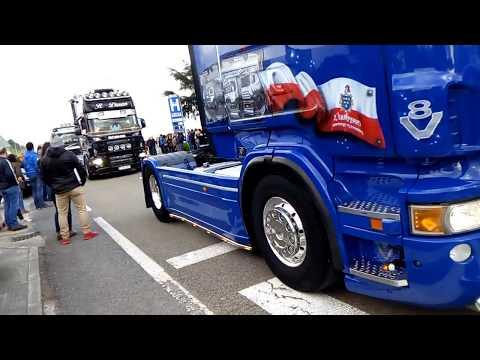 Hoznayo 1-4-2017; Desfile De Camiones Europeos.