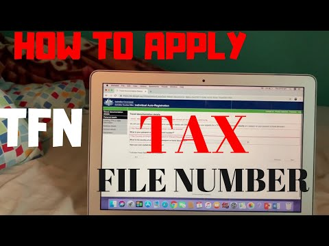 HOW TO APPLY TFN | TAX FILE NUMBER